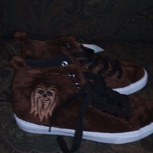 Chewbacca shoes extra furry starwars disney